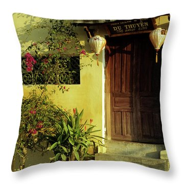 Ochre Wall 01 Throw Pillow by Rick Piper Photography
