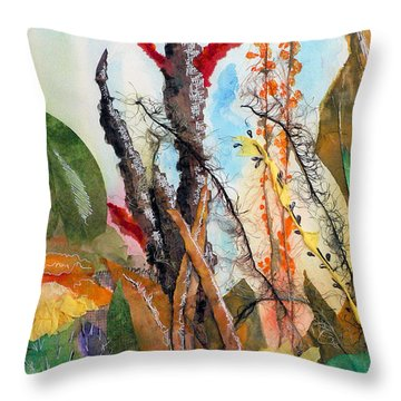 Ocotillo Collage Throw Pillow