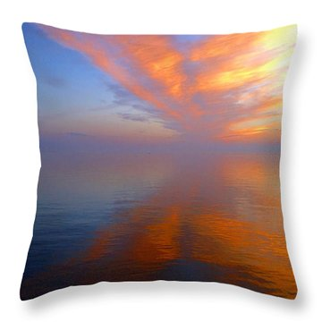 Ocracoke Nc Sunrise Throw Pillow