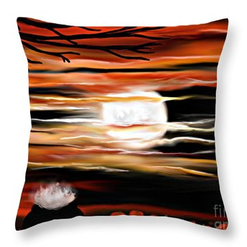 October 31st - Samhain Skies Throw Pillow