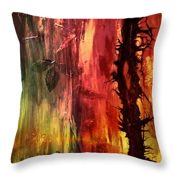 October Abstract Throw Pillow by Patricia Motley