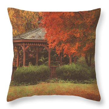 October At Deer Path Park Throw Pillow