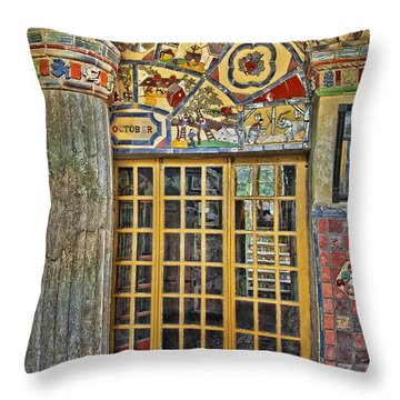 October At Fonthill Castle Throw Pillow by Susan Candelario