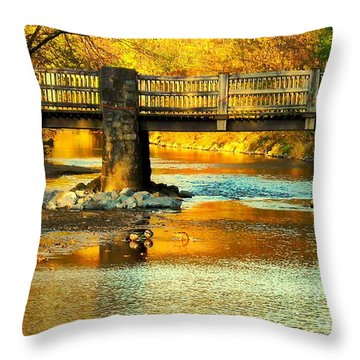 October At Robin Hood Dell Throw Pillow