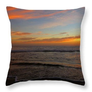 October Beauty Throw Pillow by Dianne Cowen
