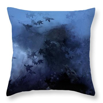 October Blues Throw Pillow by Gun Legler