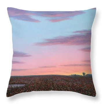 October Cotton Throw Pillow by James W Johnson