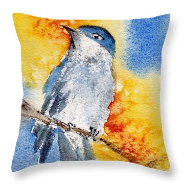 Throw Pillow featuring the painting October First by Anne Duke