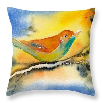 Throw Pillow featuring the painting October Fourth by Anne Duke