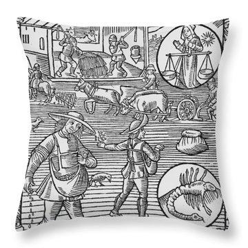 October  Libra Throw Pillow