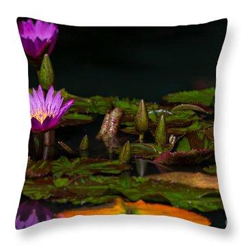 October Lilies 2 Throw Pillow