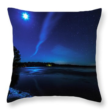 October Moon Throw Pillow by Everet Regal