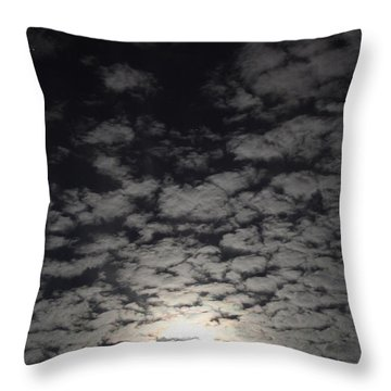 October Moon Throw Pillow