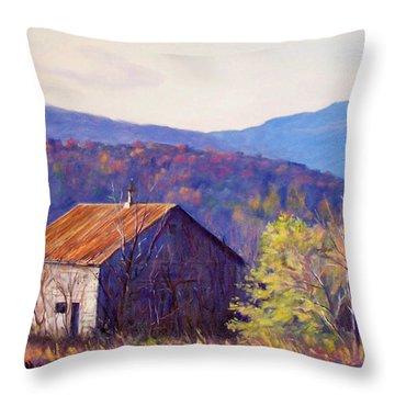 October Morning Throw Pillow by Bonnie Mason