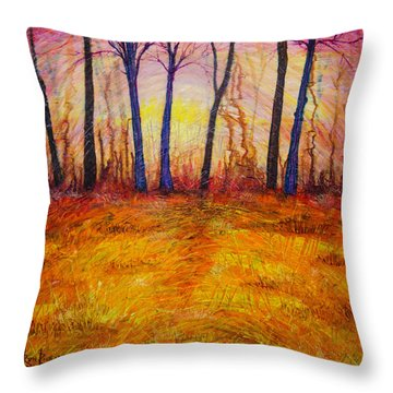 October-revisited Throw Pillow
