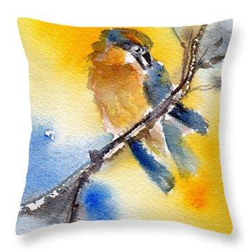 Throw Pillow featuring the painting October Second by Anne Duke