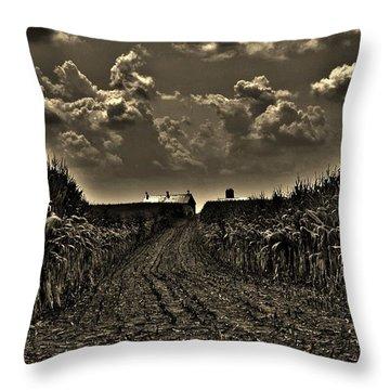 October Sky Throw Pillow by Robert Geary