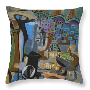 Throw Pillow featuring the digital art October Studio by Clyde Semler