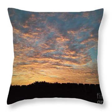 October Sunrise Throw Pillow