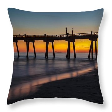 October Sunset Throw Pillow