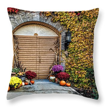 October Welcome Throw Pillow