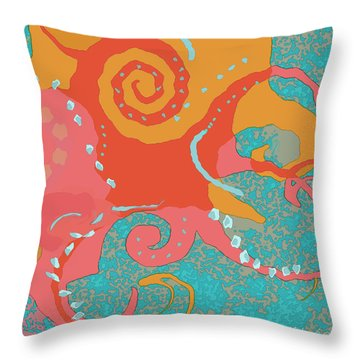 Octopus 1 Throw Pillow by David Klaboe