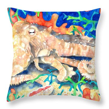 Octopus Delight Throw Pillow