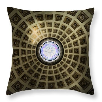 Oculus At The Baths Of Diocleian Throw Pillow by Joan Carroll