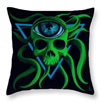 Ocupus Throw Pillow by Steve Hartwell
