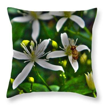 Odd Beauty Throw Pillow