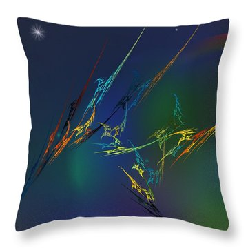 Throw Pillow featuring the digital art Ode To Joy by David Lane
