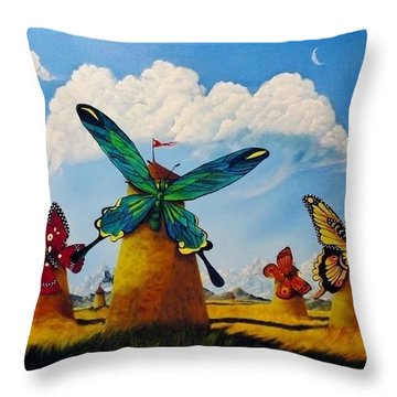 Ode To Kush Throw Pillow by Carol Avants