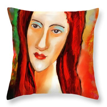 Ode To Modigliani Throw Pillow
