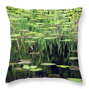 Throw Pillow featuring the photograph Ode To Monet by Chris Anderson