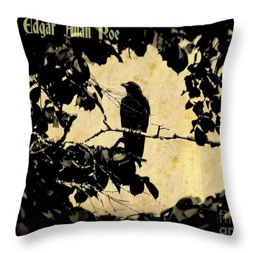 Ode To Poe Throw Pillow by John Malone