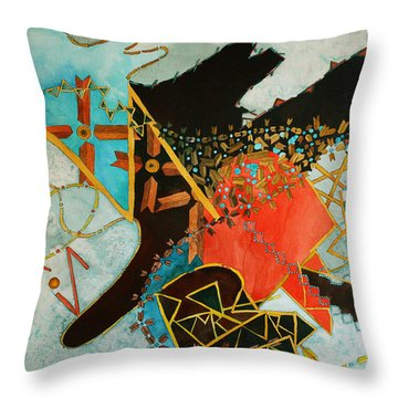 Odin's Dream Throw Pillow