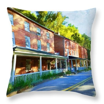 Throw Pillow featuring the photograph Oella Avenue by Dana Sohr