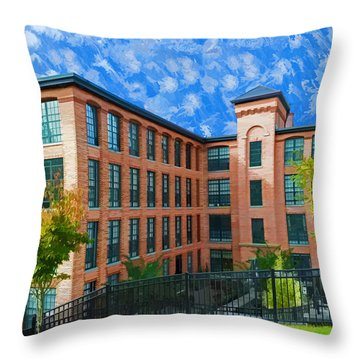 Throw Pillow featuring the photograph Oella Mill by Dana Sohr