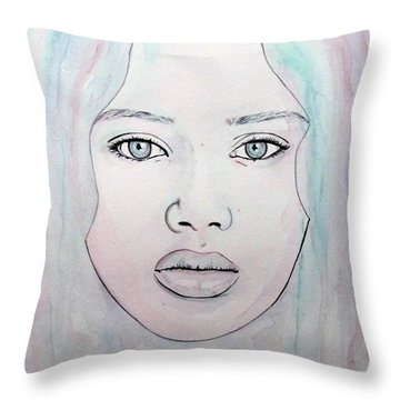Of Colour And Beauty - Blue Throw Pillow by Malinda Prudhomme