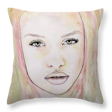 Of Colour And Beauty - Pink Throw Pillow by Malinda Prudhomme