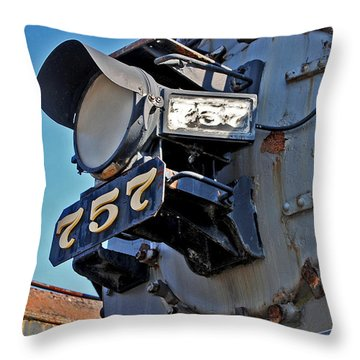 Of Rust And Power Throw Pillow by Skip Willits