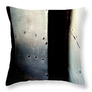 Throw Pillow featuring the photograph Of Shadow And Intent by Newel Hunter