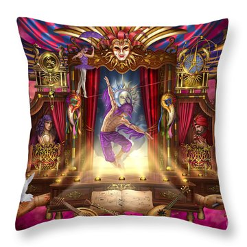 Off Broadway Throw Pillow by Ciro Marchetti