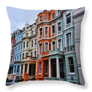 Off Portobello Road Throw Pillow