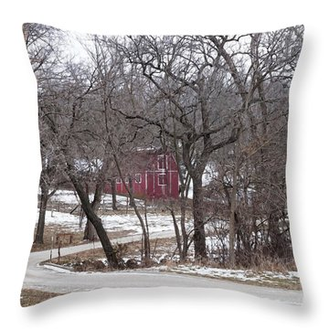 Off The Beaten Path Throw Pillow by Liane Wright
