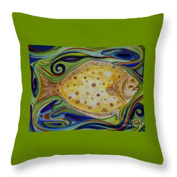 Off The Hook Throw Pillow by Cynthia Lagoudakis