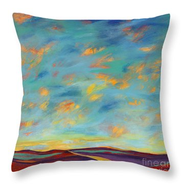 Off The Path Throw Pillow by Elizabeth Fontaine-Barr