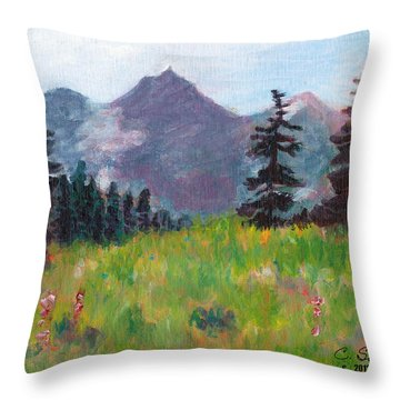 Off The Trail 2 Throw Pillow
