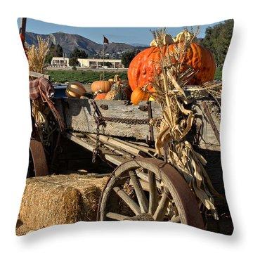 Off To Market Throw Pillow