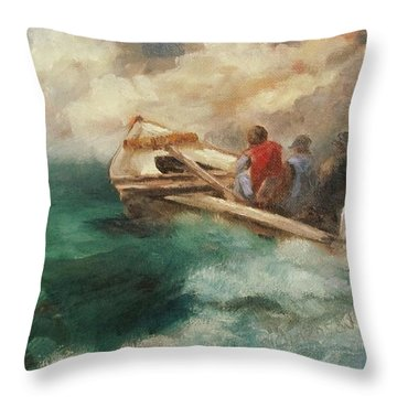 Off To Tong The Summer Bars Throw Pillow by Susan Richardson